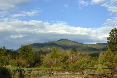 Lobo Peak, outside the back door in San Cristobal