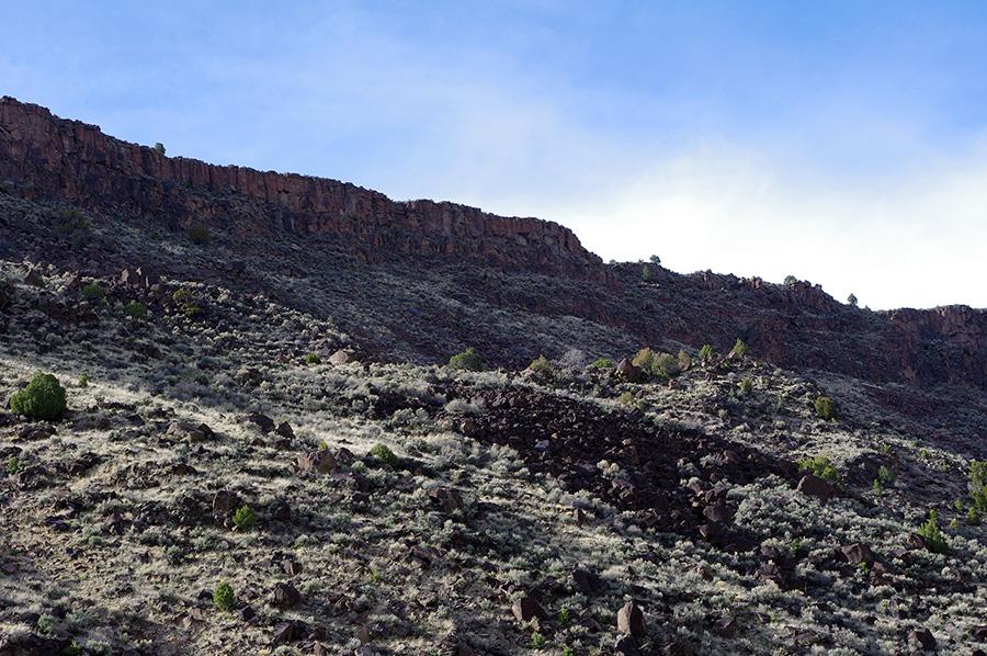 cliffs above the Rio Grande near Pilar, NM