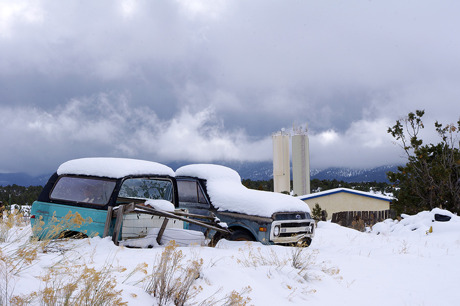 old trucks and snow