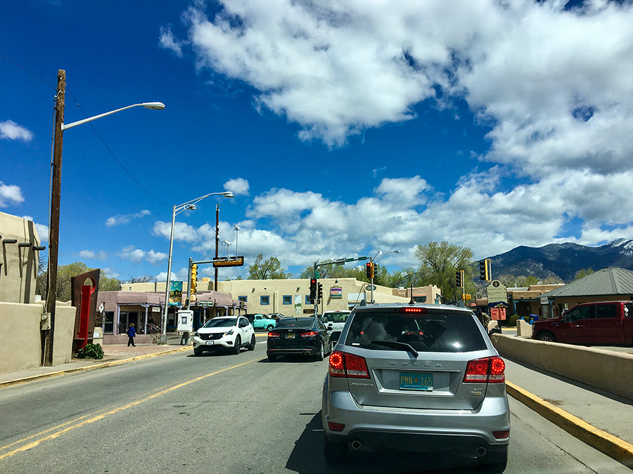downtown Taos, sort of
