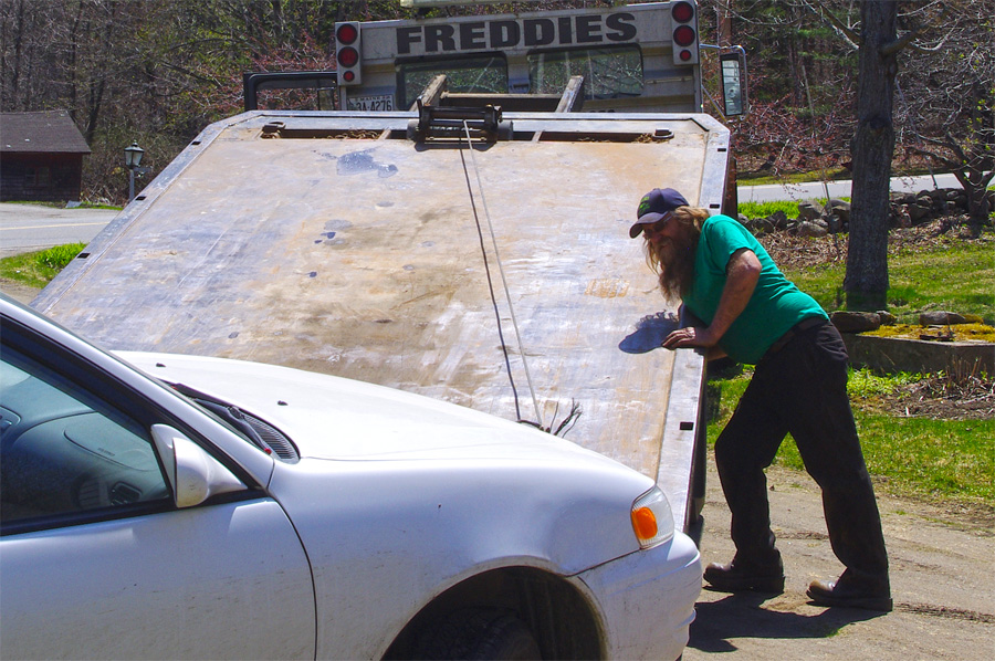 Freddie of Freddie's Towing in Vassalboro, Maine