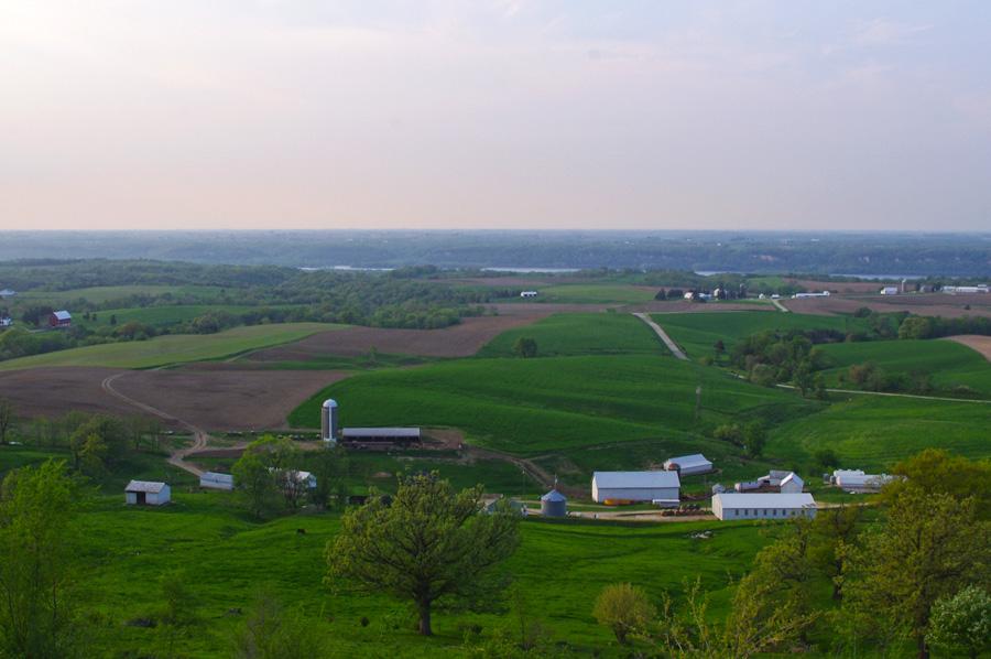 view from Balltown, Iowa scenic overlook