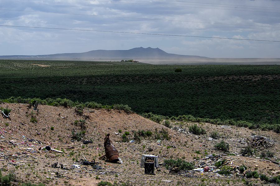garbage dump and vista near Taos