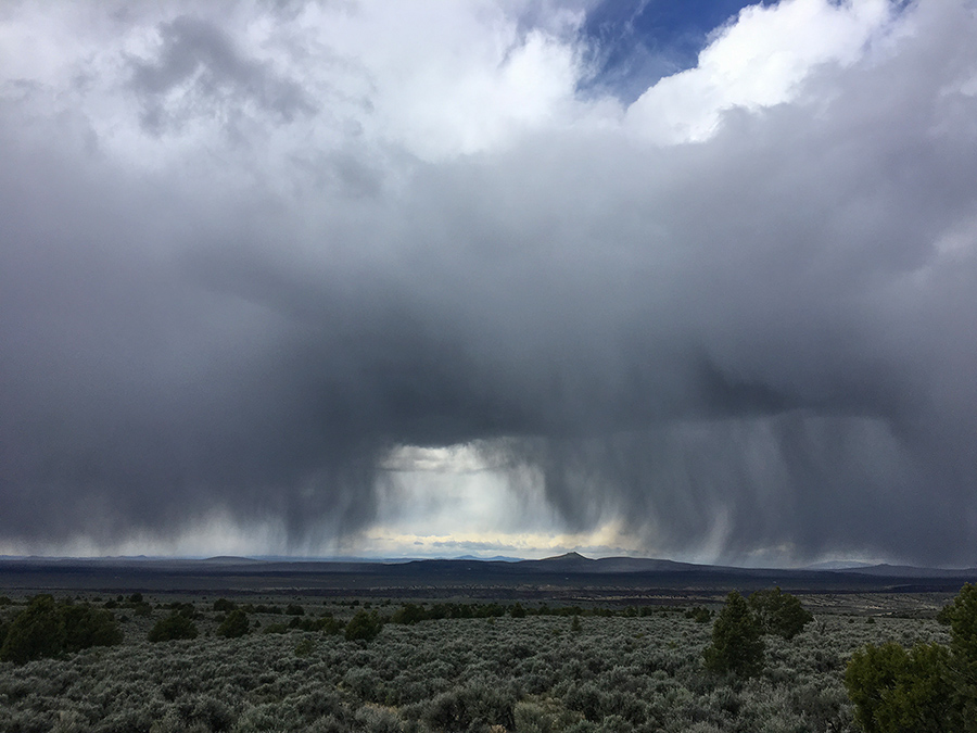 rainy New Mexico horizon
