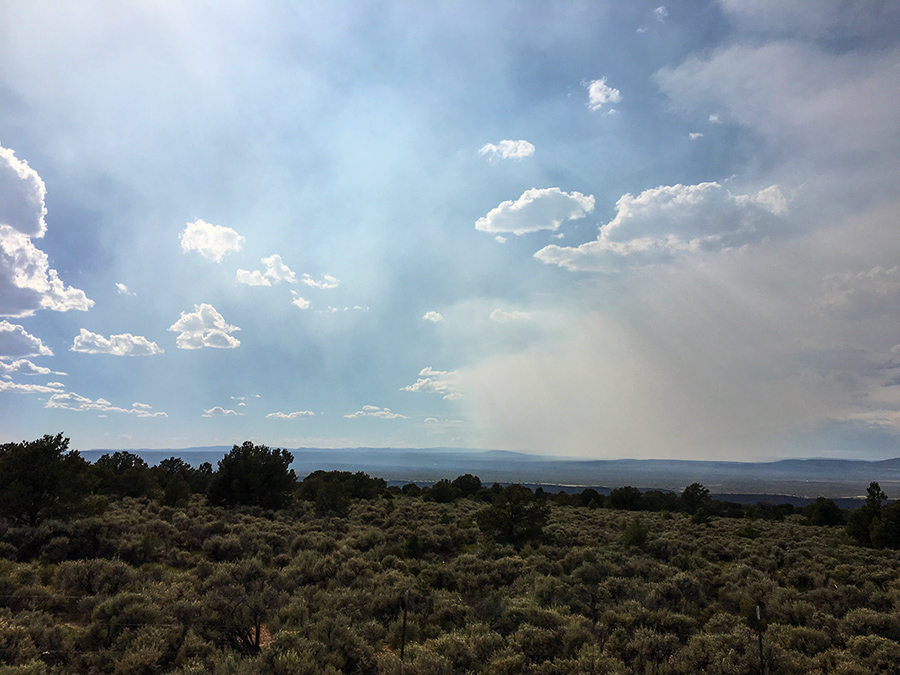 forest fire smoke as seen from Taos