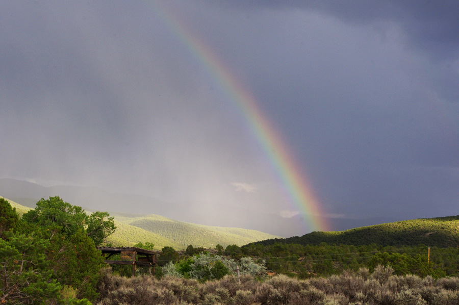 rainbow over Llano Quemado (Taos)