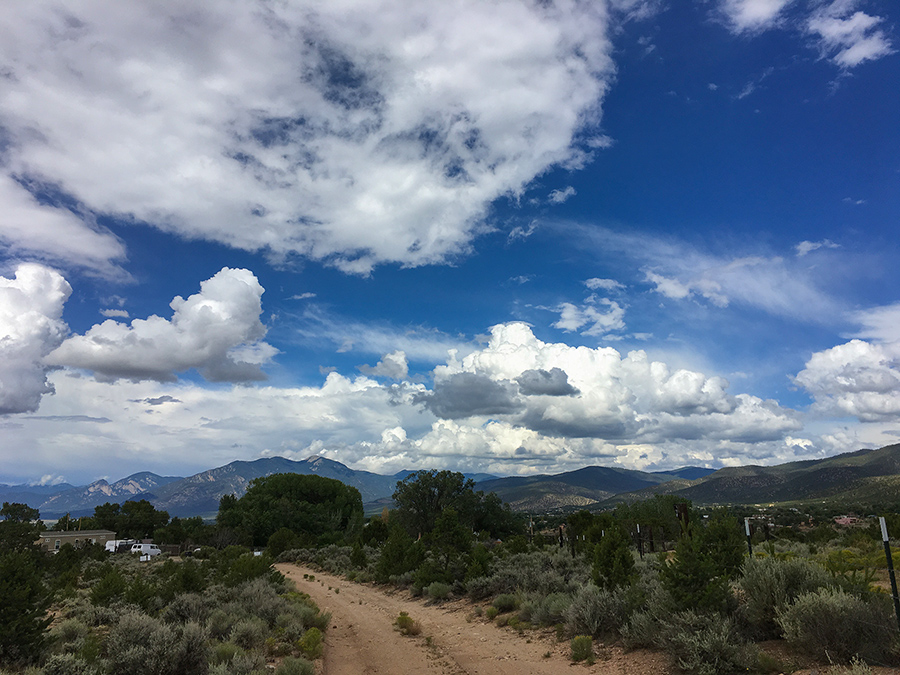 sky over Taos