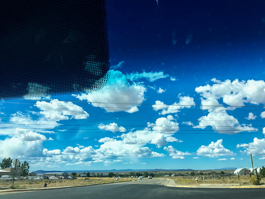road and sky, Taos, NM