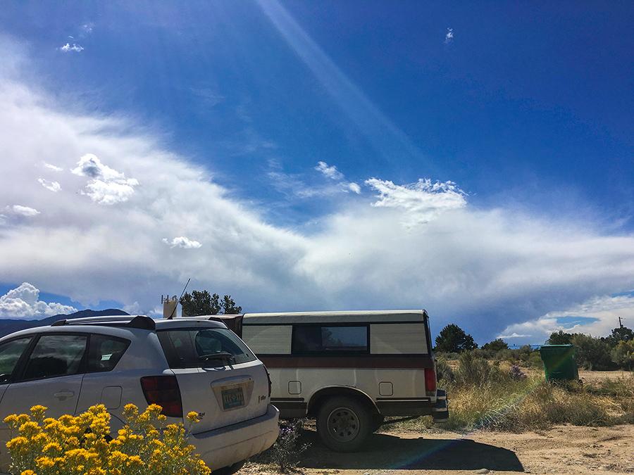 Llano Quemado sky