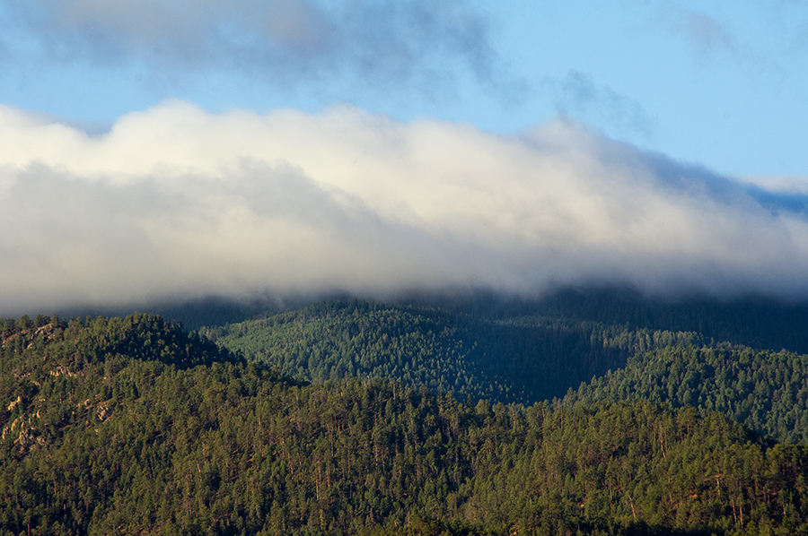 Picuris Peak in clouds